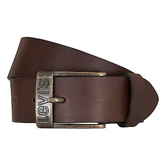 Levi BB´s belts men's belts leather jeans belt Bordeaux 2653