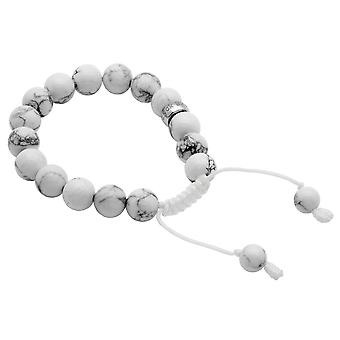 Burgmeister gemstone bracelet Howlith ball, JHE1056-522, 925 sterling silver rhodanized