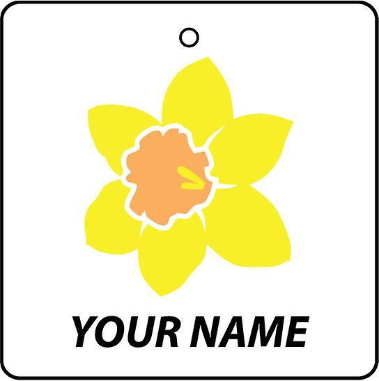 Personalised Welsh Daffodil Car Air Freshener