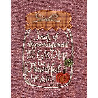Mason Jar Thankful Heart Embroidered Kitchen Tea Towel 28 Inch Kay Dee