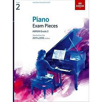 Piano Exam Pieces 2017/18 Gr2 With Cd by Jones Richard