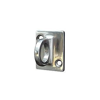 Wall Mounted Rope Barrier Chrome Wall Plate