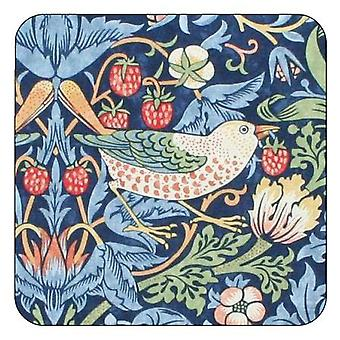 Pimpernel Morris & Co Strawberry Thief Coasters, Blue, Set of 6