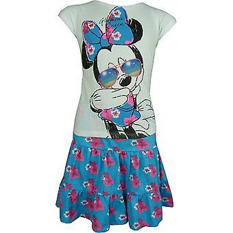 Girls Disney Minnie Mouse 2-Piece Set Short sleeve T-shirt and Skirt