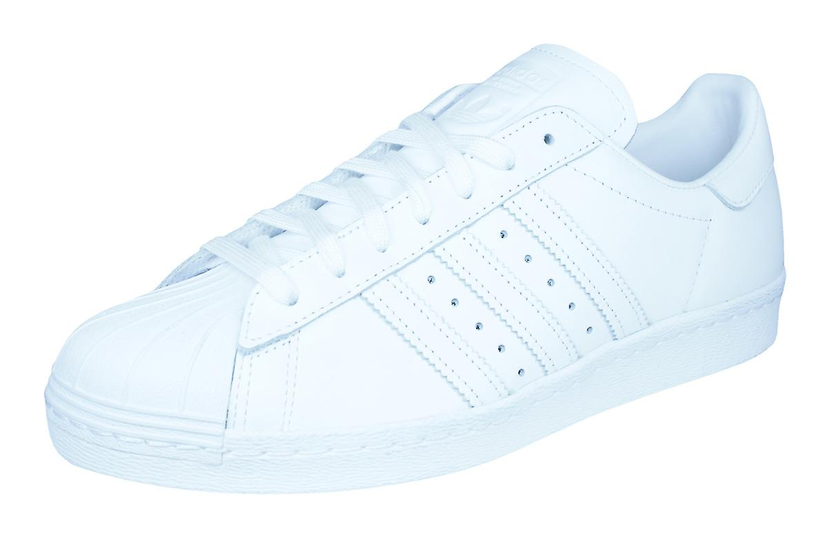 adidas Originals Superstar 80s Mens Leather Trainers / Shoes - White