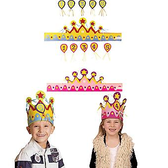Kids Crown with number 1-5 birthday Crown children's birthday party