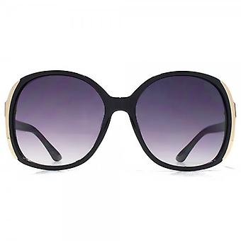 Glare Eyewear Kim Oversize Square Sunglasses In Black