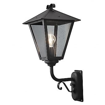Konstsmide Benu Antique Outdoor Wall Light Black