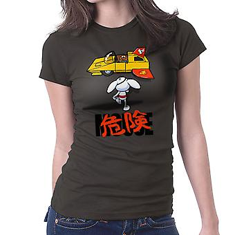Danger Mouse Akira Penfold Flying Car Women's T-Shirt