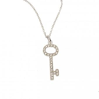 W.A.T 925 Sterling Silver Key Pendant Necklace By Kissika