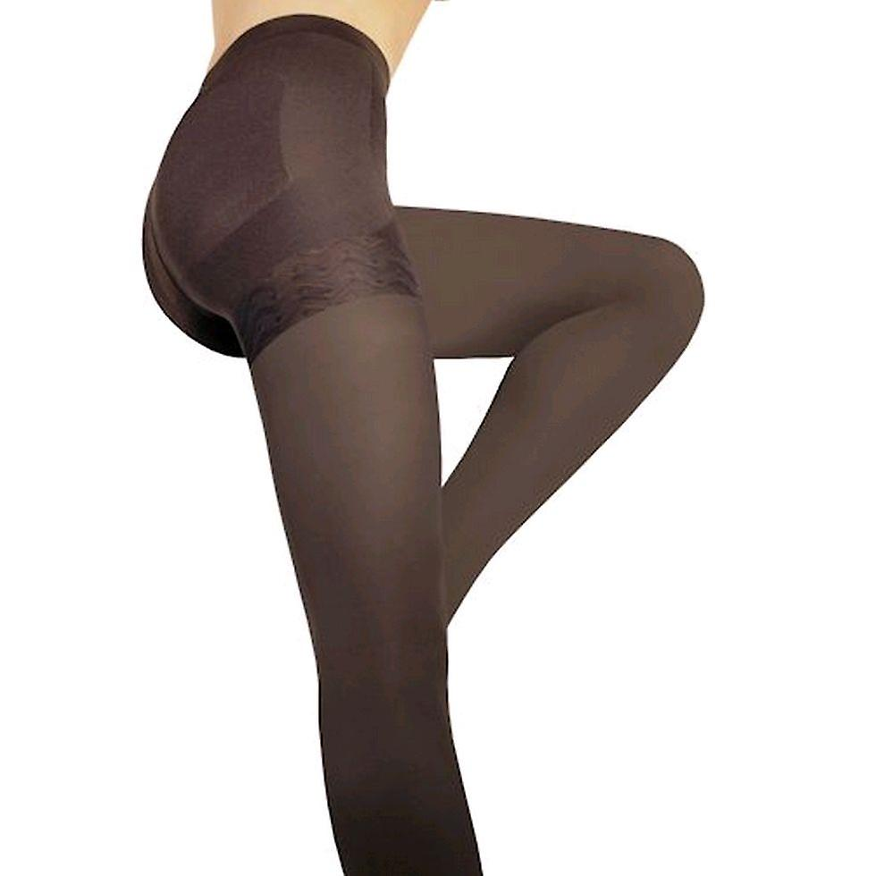 Solidea Wonder Model 140 Opaque Support Tights [Style 313A4] Moka (Dark Brown)  ML
