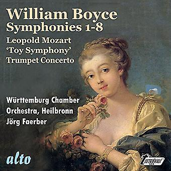 Boyce / Wurttemburg Chamber Orchestra / Heilbronn - Symphonies 1-8 / L. Mozart: Toy Symphony [CD] USA import