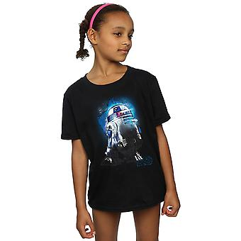 Star Wars Girls The Last Jedi R2-D2 Brushed T-Shirt