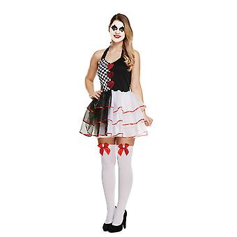 Adult's Women's Halloween Evil Jester Dress Fancy Dress Costume