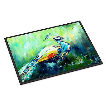 Carolines Treasures  MW1160MAT Proud Peacock Green Indoor or Outdoor Mat 18x27