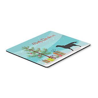 Podkładka pod mysz Merry Christmas Tree czarny Labrador Retriever, Hot Pad lub trójnóg