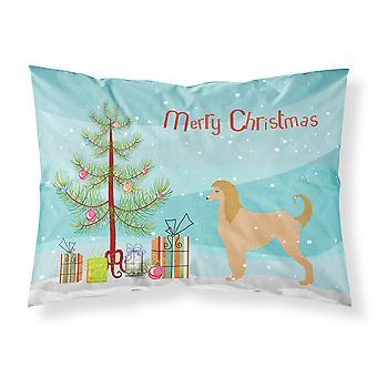 Afghan Hound Merry Christmas Tree Fabric Standard Pillowcase