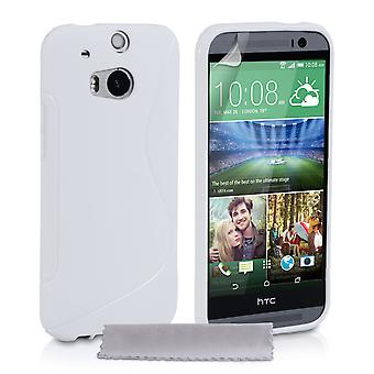 Caseflex HTC jednym M8 silikonowy żel S-Line przypadku - biały