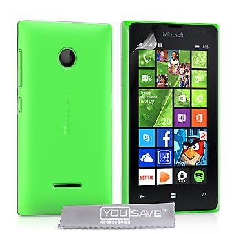 Yousave accessoires Microsoft Lumia 435 Hard Case - cristal clair