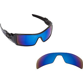 Oil Rig Replacement Lenses Polarized Blue Mirror by SEEK fits OAKLEY Sunglasses