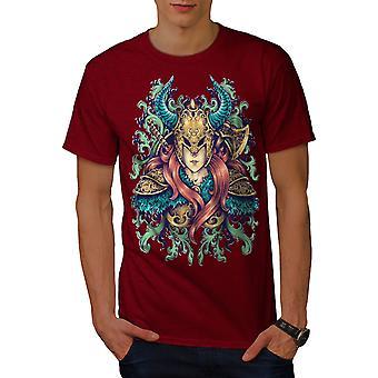 Woman Warrior Men RedT-shirt | Wellcoda