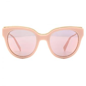 Marc Jacobs Metal Twist Temple Detail Cateye Sunglasses In Pink