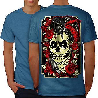 Girl Gang Face Head Men Royal BlueT-shirt Back | Wellcoda