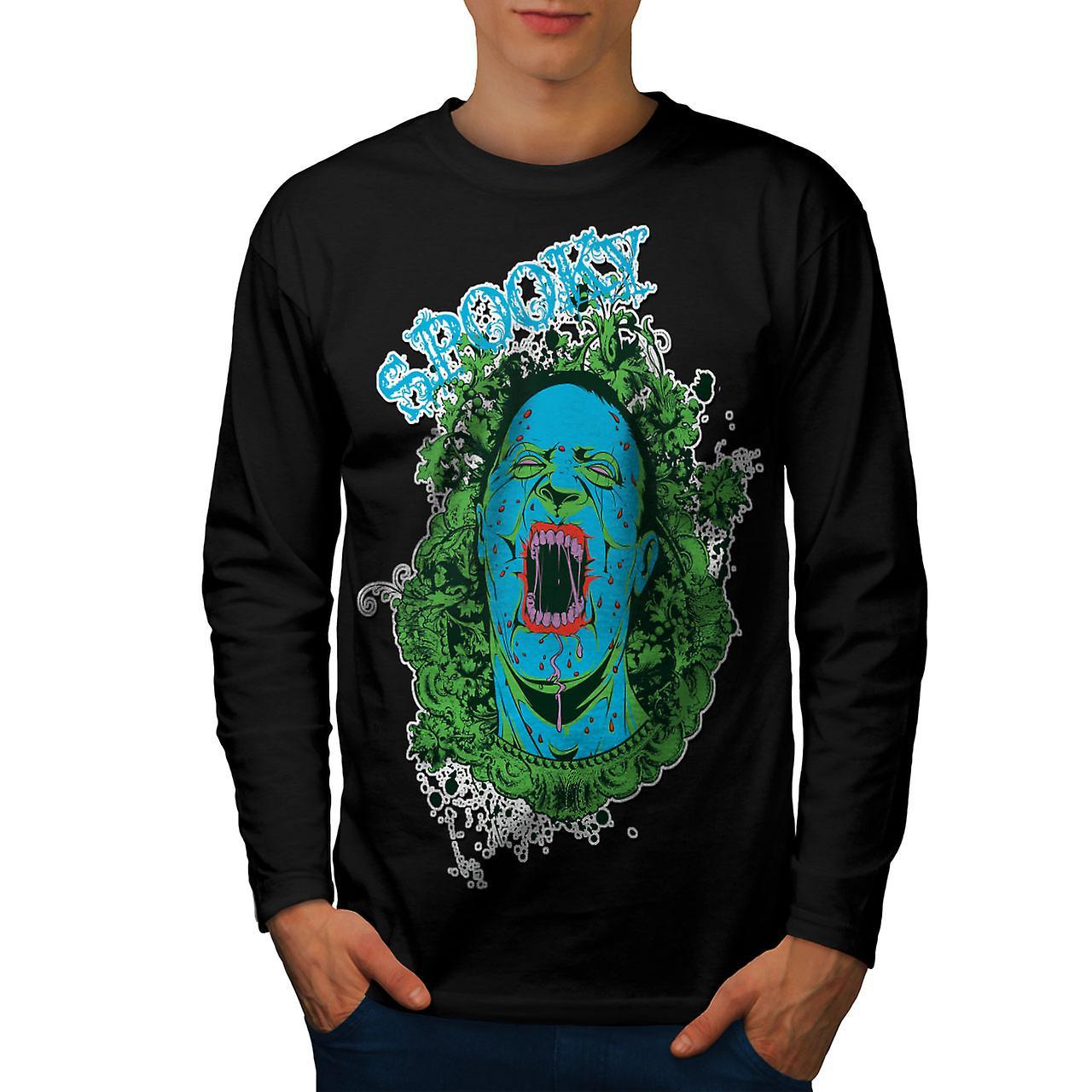 Spooky effrayant Zombie Dead Men noirLong Sleeve T-shirt | Wellcoda