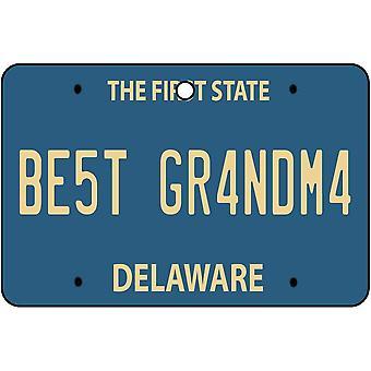 Delaware - Best Grandma License Plate Car Air Freshener