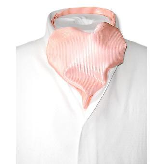 Antonio Ricci ASCOT Cravat Solid Ribbed Pattern Men's Neck Tie