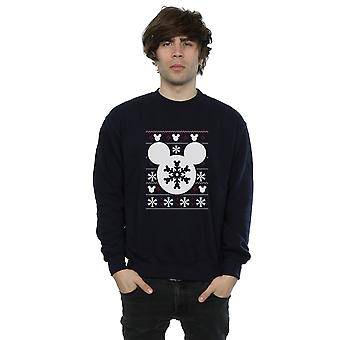 Disney Men's Mickey Mouse Christmas Silhouette Sweatshirt