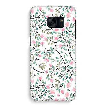 Samsung S7 Full ut fallet - nätta blommor