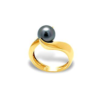 Ring Tahitian Pearl and yellow gold 375/1000