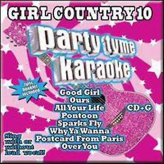 Party Tyme Karaoke - Party Tyme Karaoke: Vol. 10-Girl Country [CD] USA import