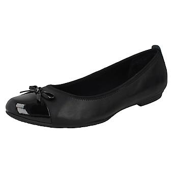 Girls Bootleg by Clarks Ballerina School Shoes Una Ivy