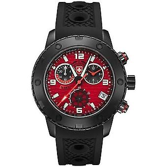 Swiss military mens watch rally GMT Nero chronograph 2753