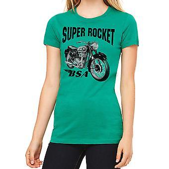 BSA Super Rocket motorcykel kvinders Kelly Grøn T-shirt