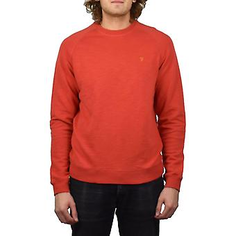 Farah Longleat Slub Loopback Sweatshirt (Red Coat)