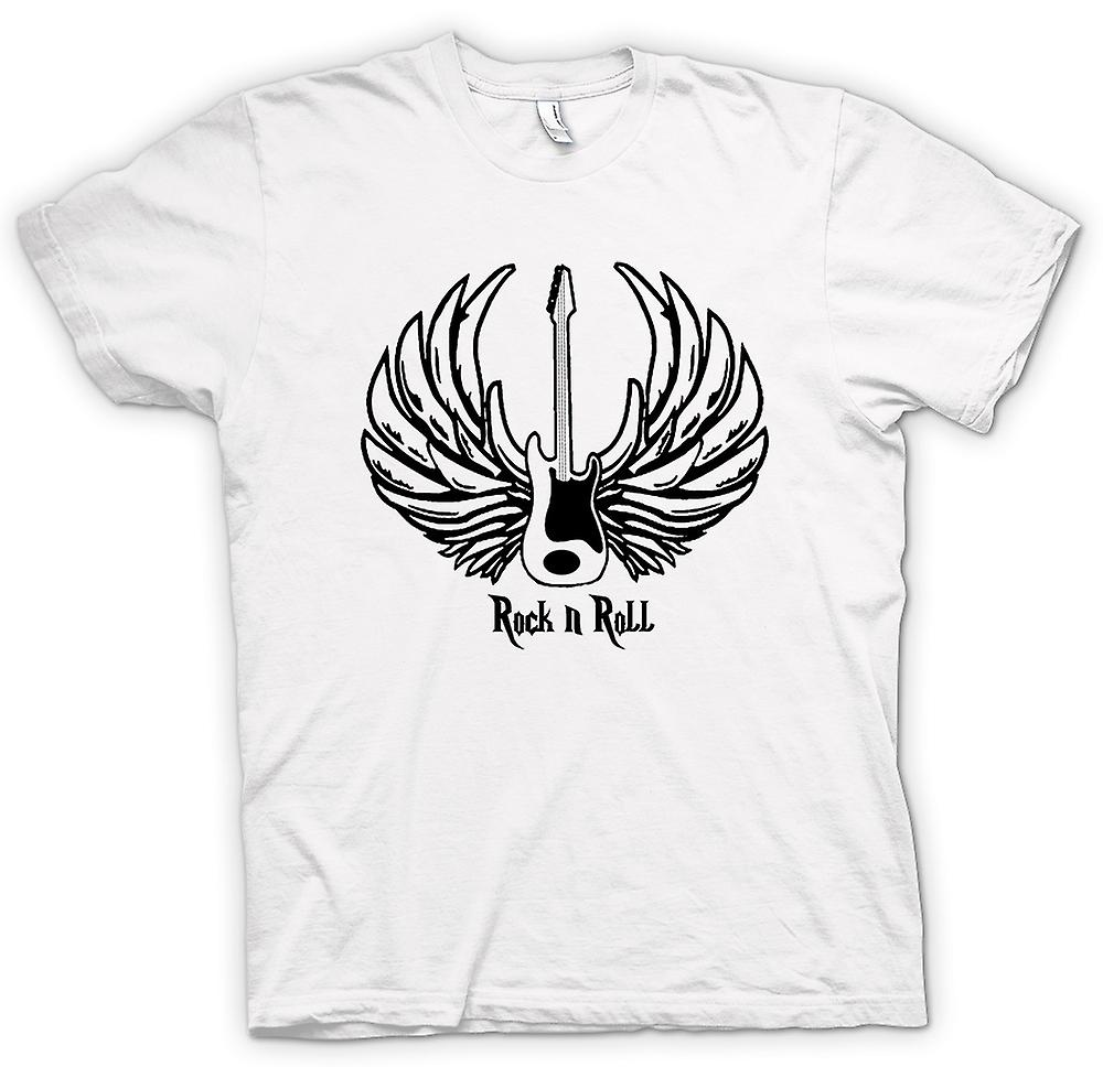 Womens T-shirt-Rock n Roll - Gitarre Wings - Musik