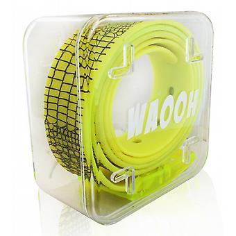 Waooh - Ceinture Plastique Waooh Jaune/Noir