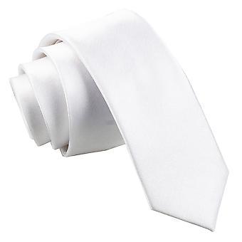 White Plain Satin Skinny Tie