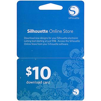Silhouette $10 Download Card-
