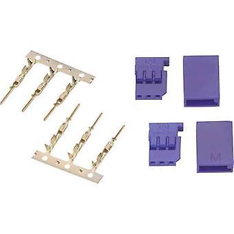 Modelcraft Servo plug loose Futaba 1 pair