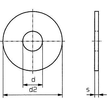 TOOLCRAFT 5,3 D9021 POLY 194736 Unterlegscheiben Innendurchmesser: 5,3 mm M5 DIN 9021 Kunststoff 100 PC