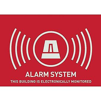 Warning label Alarm secured Languages English (W x H) 74 mm x 5