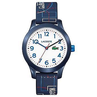 Lacoste 12.12 dla dzieci niebieski pasek Watch Dial biały 2030008