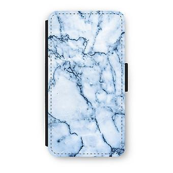 iPhone Custodia Flip di XS - marmo blu