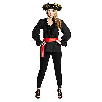 Pirate blouse Black Roman sleeve shirt pirate pirate costume for women