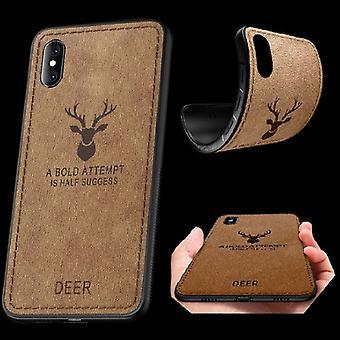 Hoogwaardige design case silicone / faux leder bruin voor Apple iPhone XS MAX 6.5 inch mouw case pouch nieuwe