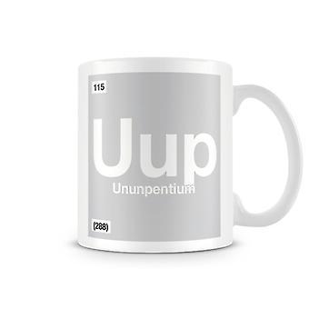 Scientific Printed Mug Featuring Element Symbol 115 Uup - Ununpentium